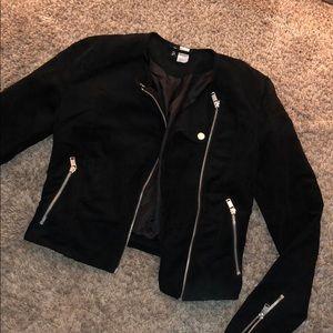 Suede black dressy jacket
